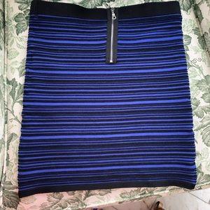 Sandro Blue & Black Mini Skirt Stretchy Wore Once